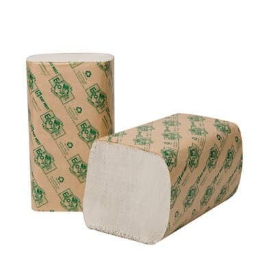EcoSoft Folded Towels, White, 268 Per Pack