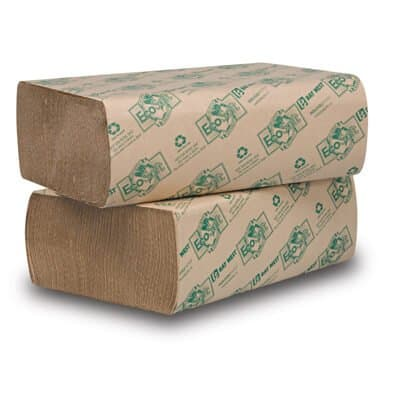 EcoSoft Folded Towels, Natural, 200 Per Pack