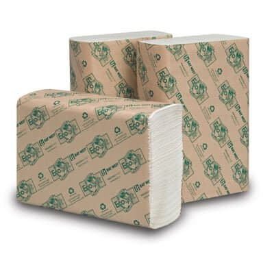 EcoSoft Multifold Towels, White,