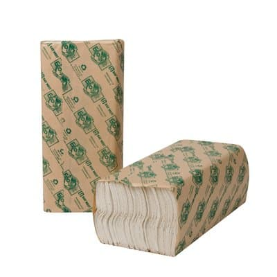 EcoSoft Folded Towels, White, 150/Pack