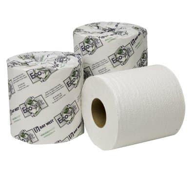 Wausau EcoSoft Universal Bathroom Tissue, 2-Ply, 500 Sheets Per Roll
