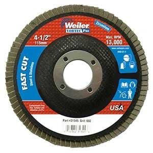 "4-1/2"" Vortec Pro Abrasive, Phenolic, Angled Flap Disc with 40 Grit"