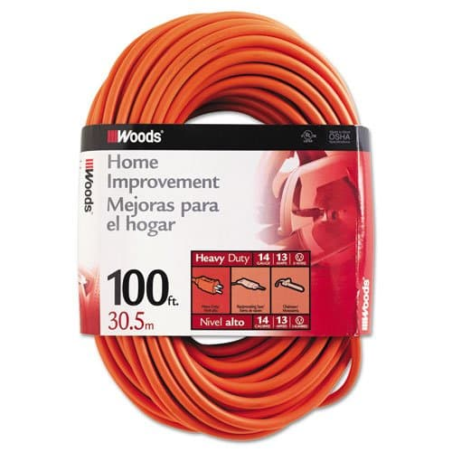 Woods Wire Outdoor Round Vinyl Extension Cords 100 ft
