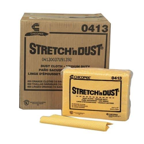 Chicopee Stretch 'n Dust Yellow/Orange Dust Catching Cloths 23.25X24