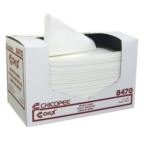 Chicopee White Light-Duty Soft Absorbent Sports Towel 14X24