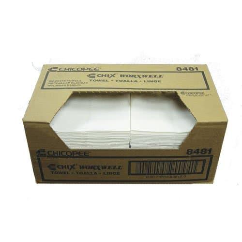 Chicopee 13x15 White Reusable Multi-Purpose Towel, 100 ct