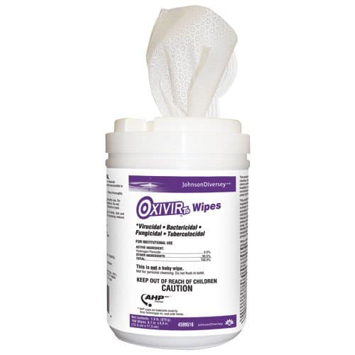 Diversey Oxivir TB Disinfecting Cleaner Wipes