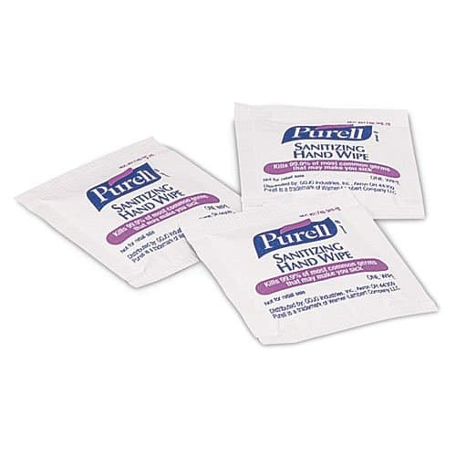 Purell Individually Wrapped Sanitizing Wipes 5X7, 100 ct
