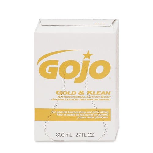 GOJO Bag-in-Box Gold & Klean Antimicrobial Lotion Soap 800 mL Refills