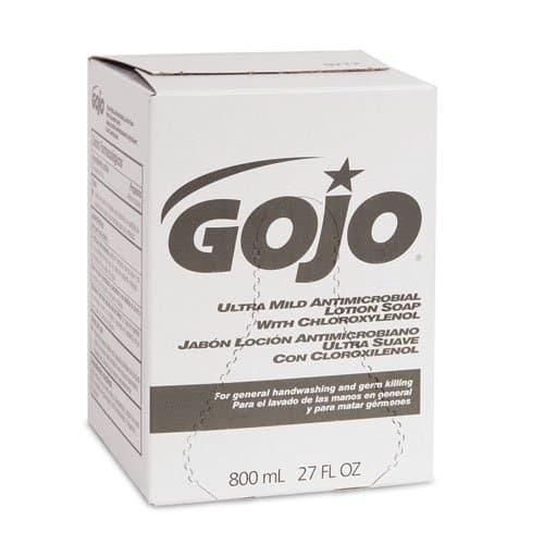 GOJO Bag-in-Box Ultra Mild Antimicrobial Lotion Soap 800 mL Refills