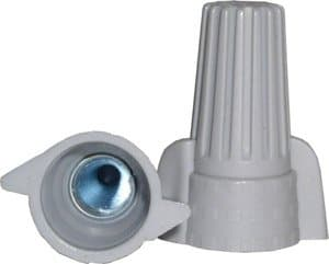 NSI Gray Winged Wire Connectors, Easy-Twist 18-8 AWG