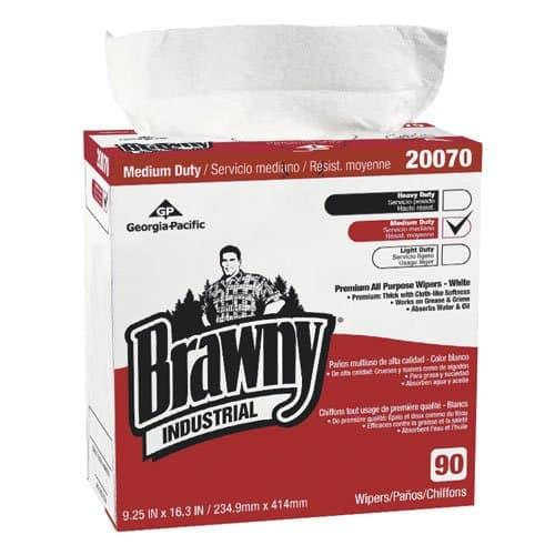 Georgia-Pacific Brawny Industrial White All-Purpose Wipers in Dispenser Box