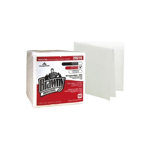 Georgia-Pacific Brawny Industrial White All-Purpose 1/4-Fold Wipers