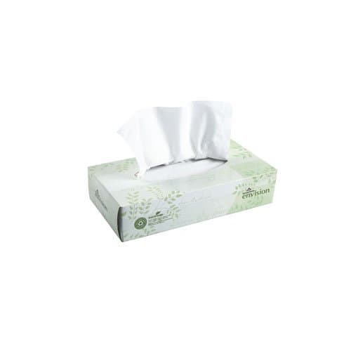 Georgia-Pacific Envision White 2-Ply Premium Facial Tissues Flat Box