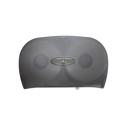 Georgia-Pacific Translucent Gray Jumbo Jr. Two Roll Bath Tissue Dispenser