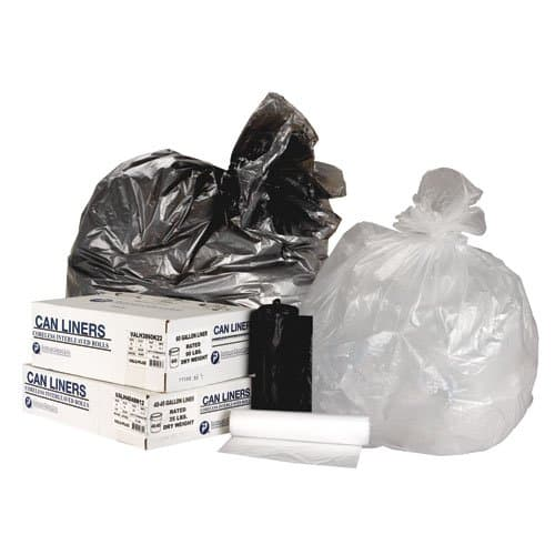 Clear 13 Micron High Density Commercial 20-30 Can Liners