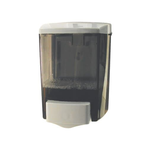 ClearVu Black & White Plastic 30 oz. Liquid Soap Dispenser