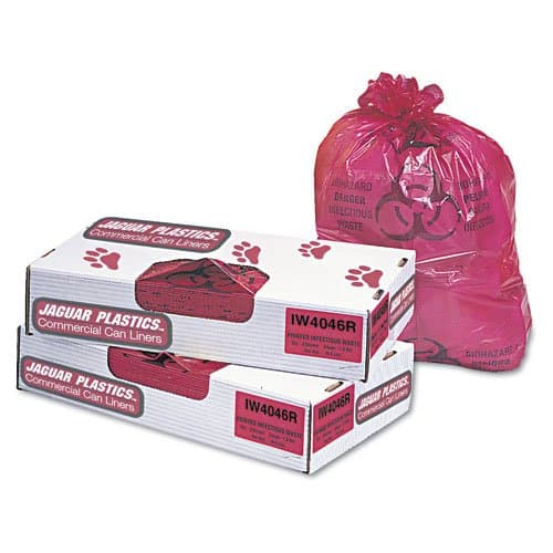 Jaguar Red 1.3 mil Plastic Health 40 Gal Trash Liner