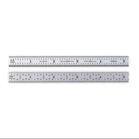 "LS Starrett 12"" Flexible Spring-Tempered Steel Measurement Rule"