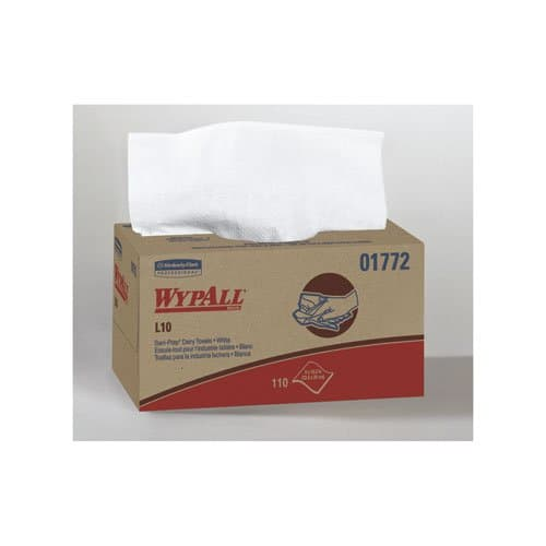 Kimberly-Clark WypAll L10 SANIPREP White 1-Ply S-Fold Wiping Towels 110 ct