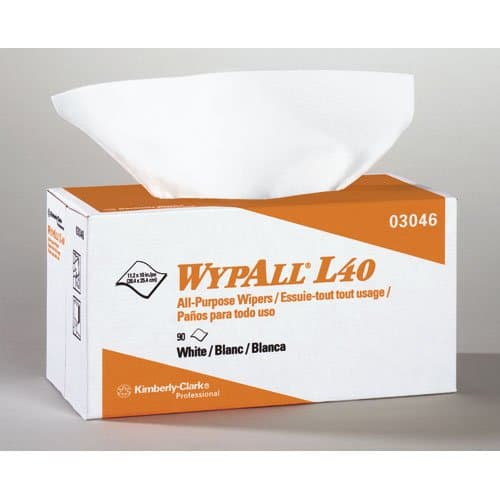 Kimberly-Clark WypAll L40 Wipers in POP-UP Box 10.8x10