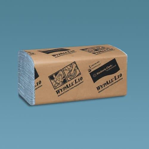 Kimberly-Clark WypAll L10 Blue Windshield Paper Towels