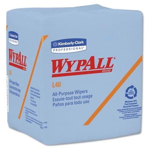Kimberly-Clark WypAll L40 Blue quarter-fold Wipers