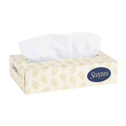 Kimberly-Clark SUPRASS White 2-Ply Facial Tissue in Flat Box 125 ct