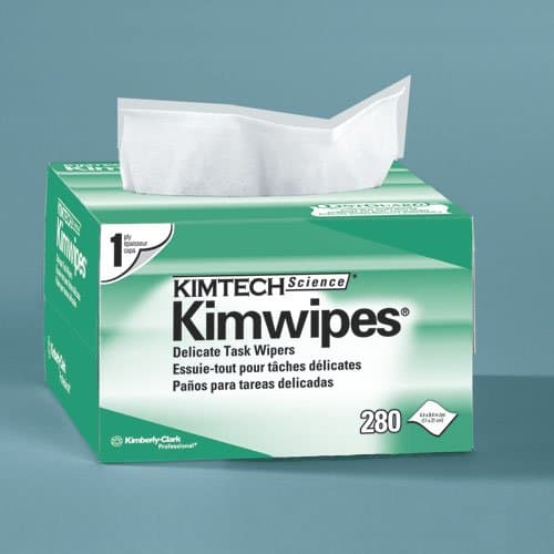 Kimberly-Clark KIMTECH Science Kimwipes White Delicate Task Wipers 280 ct