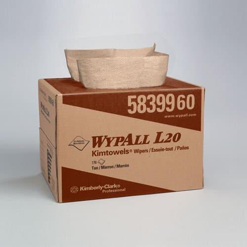 Kimberly-Clark WypAll Tan Multi-Ply L2 Wipers in BRAG Box