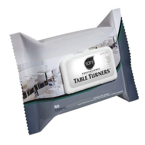 Sani-Professional Brand Table Turner Premoistened Wipes