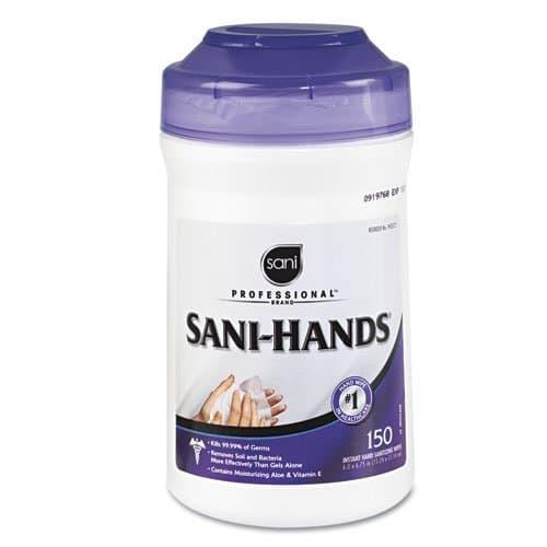 Sani Instant Sanitizing Hand Wipes, 150 ct