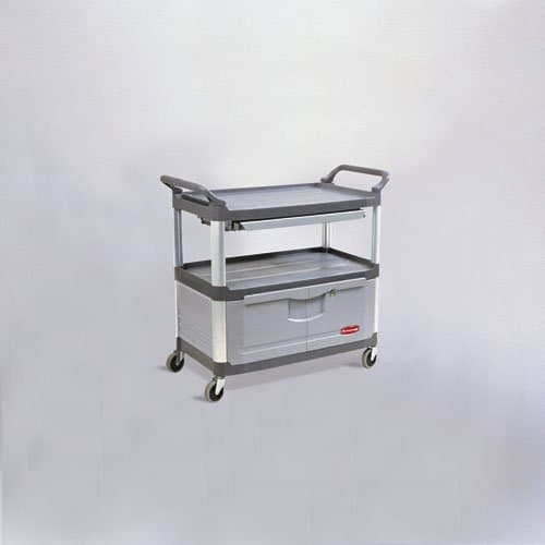 Gray 3-Shelf Instrument Cart