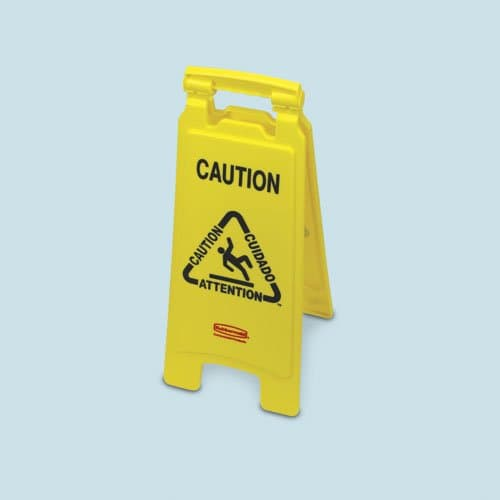 """Yellow 2-Sided """"Closed"""" Folding Floor Sign"""