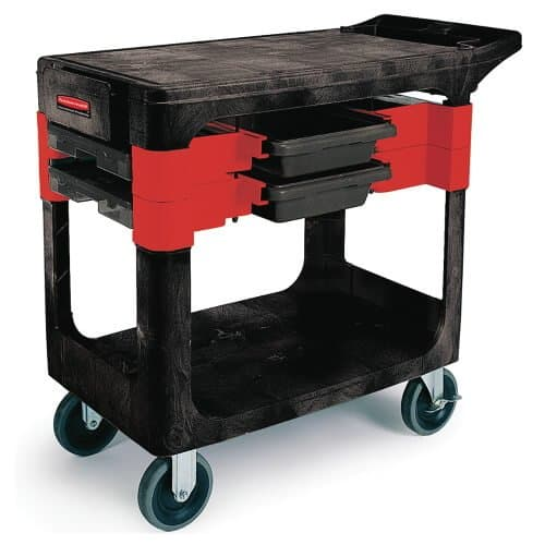 Rubbermaid Black Trades Cart