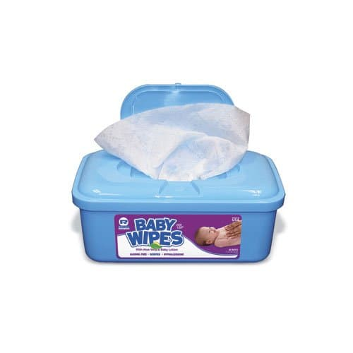 Royal Paper Hypoallergenic Unscented Baby Wipes Tub