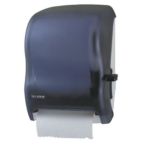 San Jamar Black Lever Roll Towel Dispenser Without Transfer Mechanism