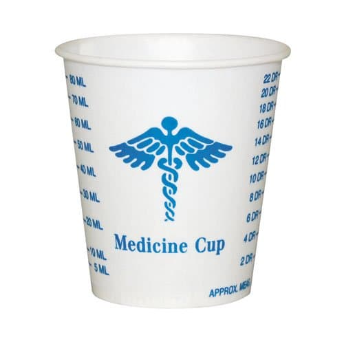 SOLO Waxed-Coated 3 oz. Graduated Medicine Paper Cups