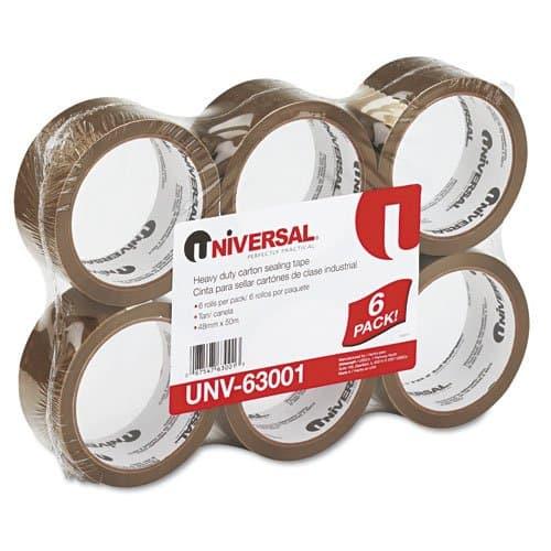 Universal Clear Universal 3 mil Box Sealing Tape, 55 yd.