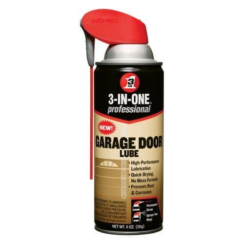 3-IN-ONE Professional Garage Door Lube w/ Smart Straw 6 oz.