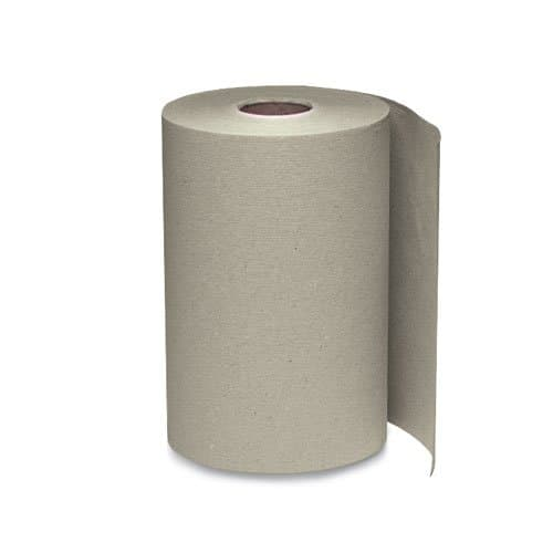 Windsoft Brown 1-Ply Nonperforated Hardwound Roll Towels, 5.5 in. Diameter