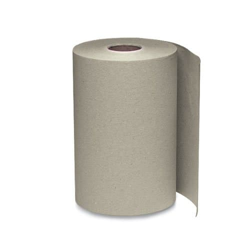 Windsoft Brown 1-Ply Nonperforated Roll Towels 12 ct
