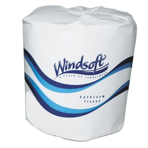 Windsoft Standard Toilet Tissue, 2-Ply, White
