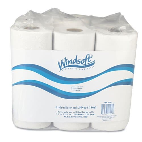 Windsoft Recycled 2-Ply Kitchen Towel Roll