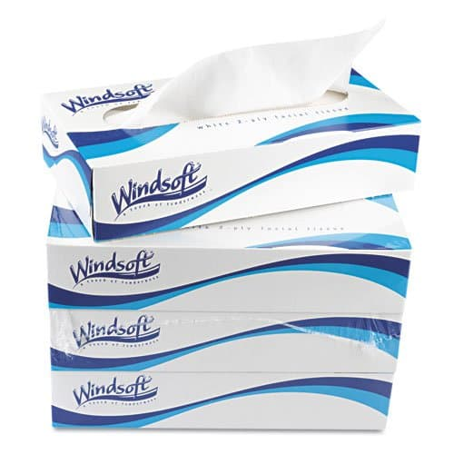 Windsoft Recycled 2-Ply Facial Tissue