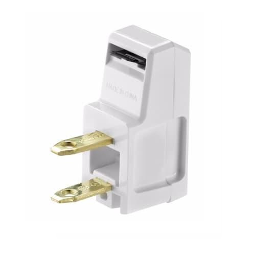 Eaton Wiring 15 Amp Super Plug, Non-Grounded, NEMA 1-15R, White