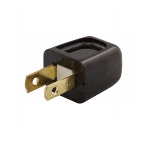 Eaton Wiring 10 Amp Standard Plug, NEMA 1-15R, Polarized, Black