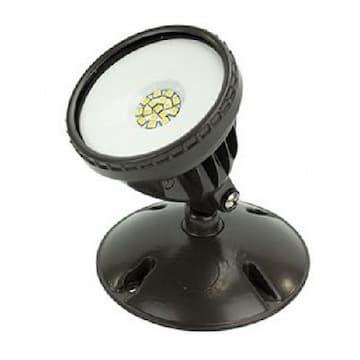 American Lighting 12W Round LED Flood Light, Single, 1000 lm, 120V, 3000K, Dark Bronze