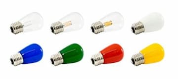 American Lighting 1.4W LED S14 Pro Decorative Bulb, Dimmable, E26, 30 lm, 120V, 2400K, Clear, Box of 25