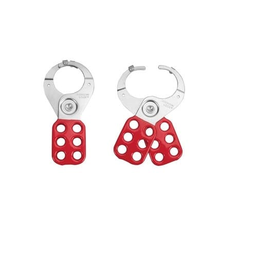 Lockout Hasp, 1.5-in Jaw Clearance, Red
